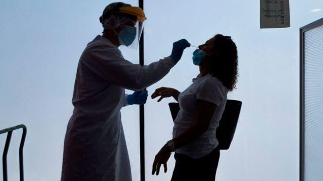 prueba Coronavirus Covid Covid-19 pruebas muestra examen test