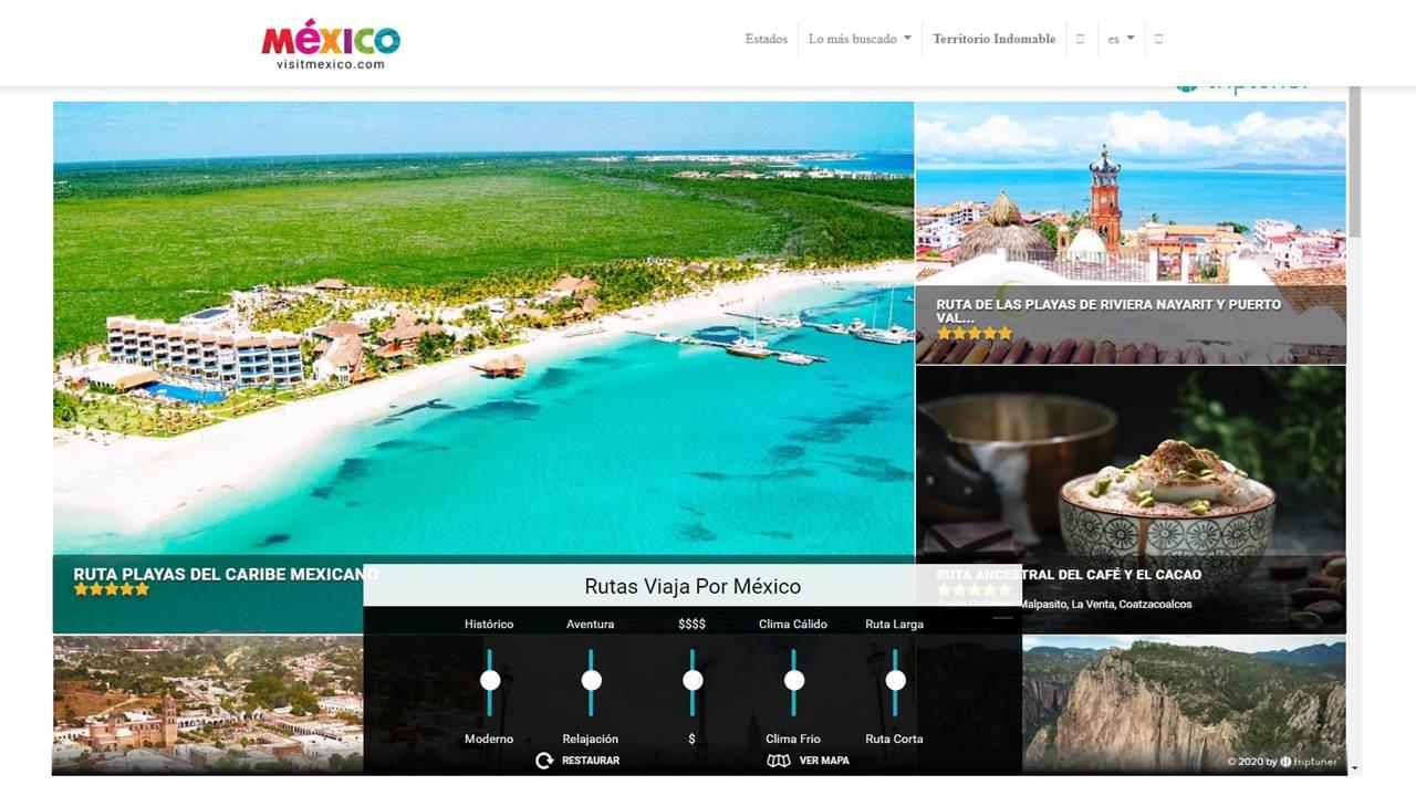 Presentan al fin el nuevo sitio de Visitmexico