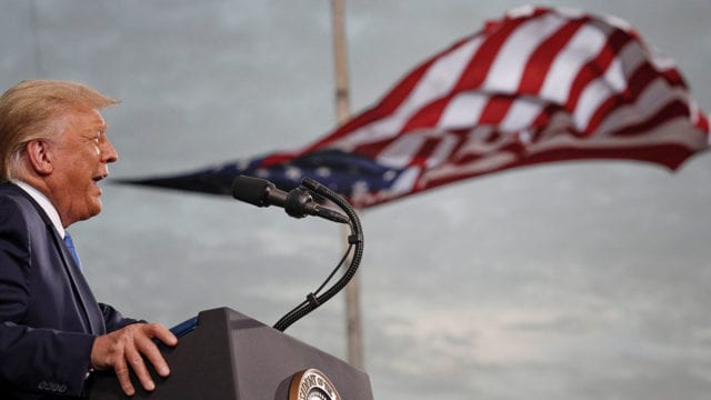 U.S. President Donald Trump campaigns in Jacksonville, Florida