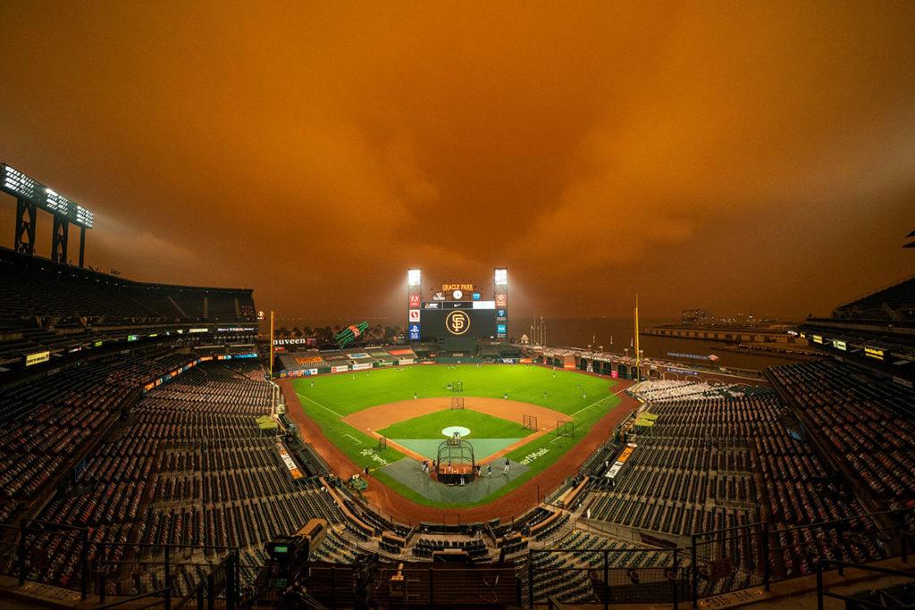 Incendios en San Francisco MLB: Seattle Mariners at San Francisco Giants