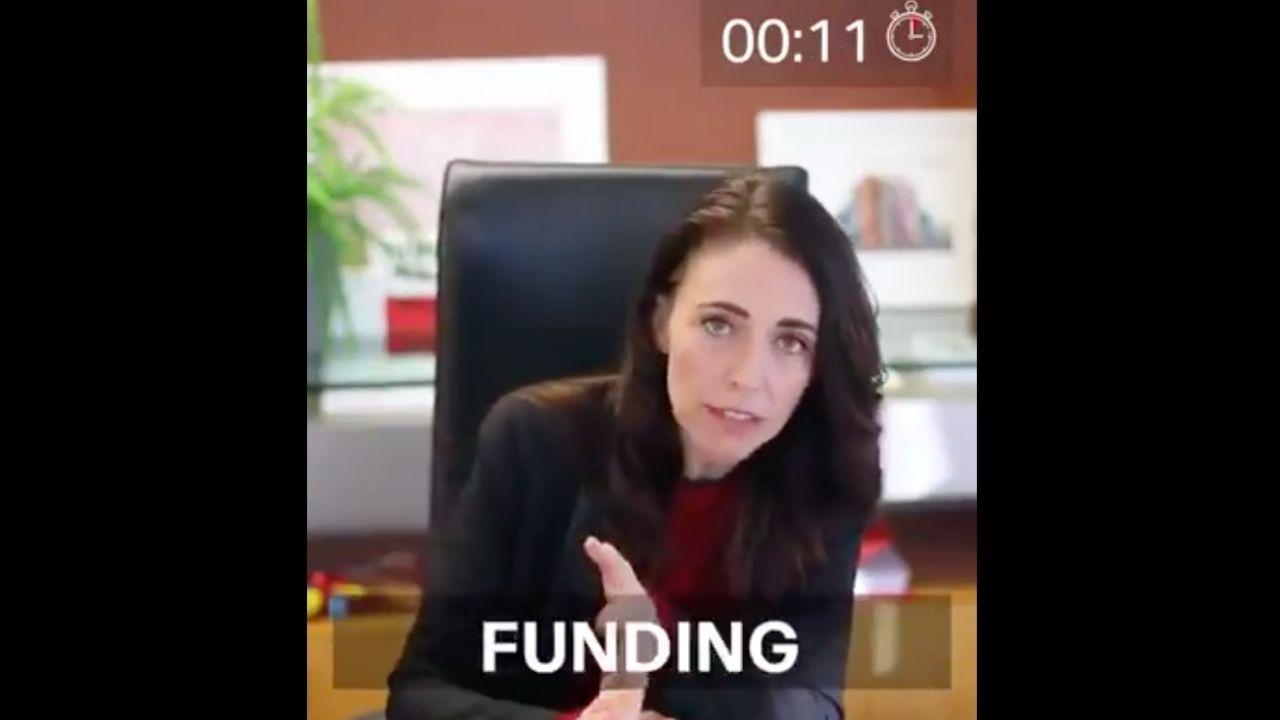 En video de 2 minutos, primera ministra de Nueva Zelanda da su informe de gobierno