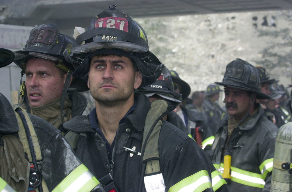 Firefighters during the September 11th terrorist attack.
