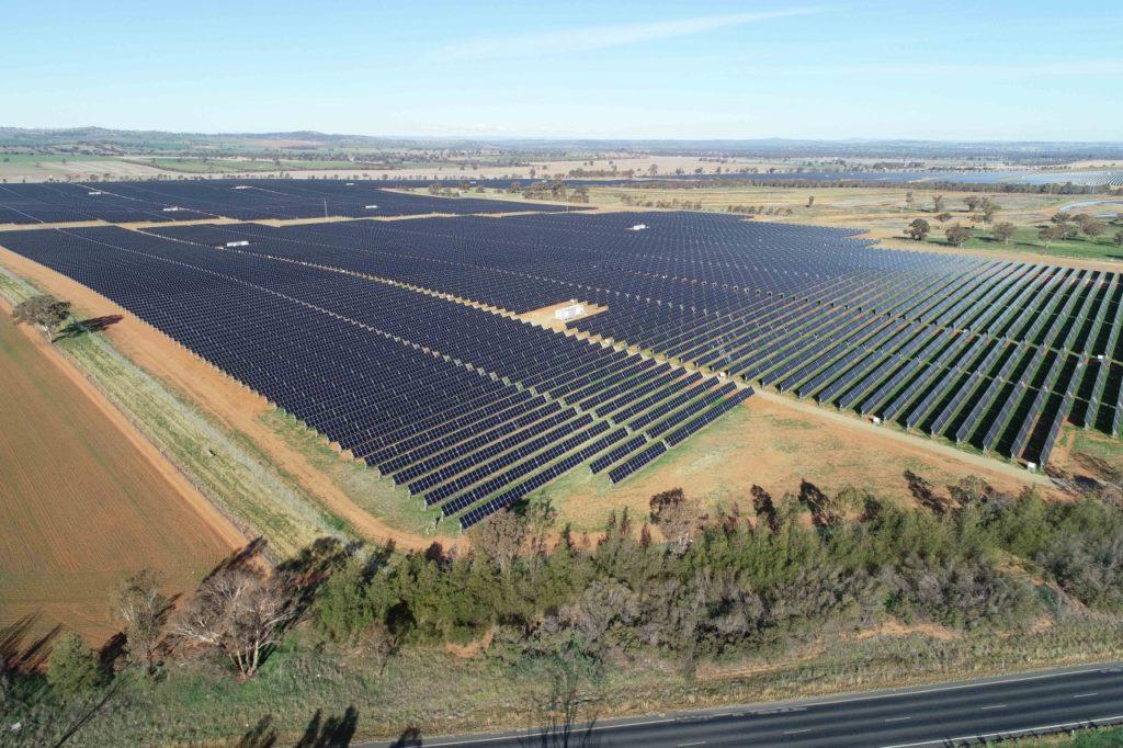 Energía verde sídney Parque solar Bomen, en Wagga Wagga, Nueva Gales del Sur.