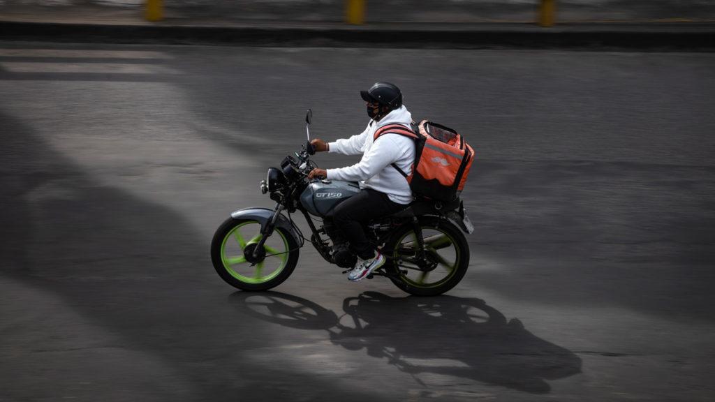 rappi repartidor motocicleta