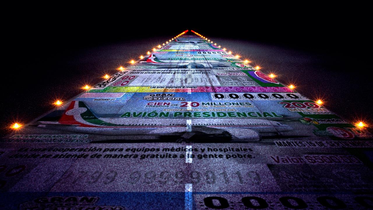 Rifa avion presidencial boleto loteria