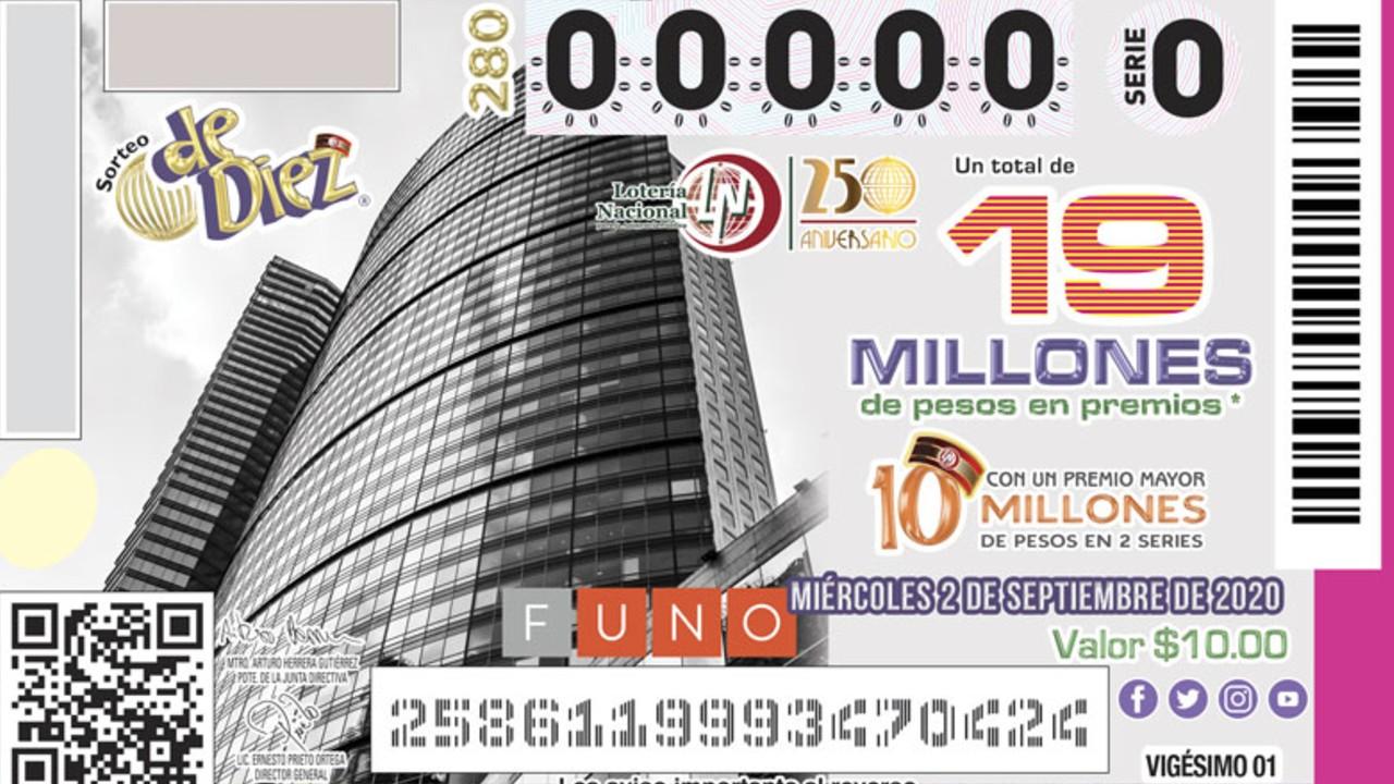 Lotería Nacional reconoce a Torre Mayor con billetes; hoy es el sorteo