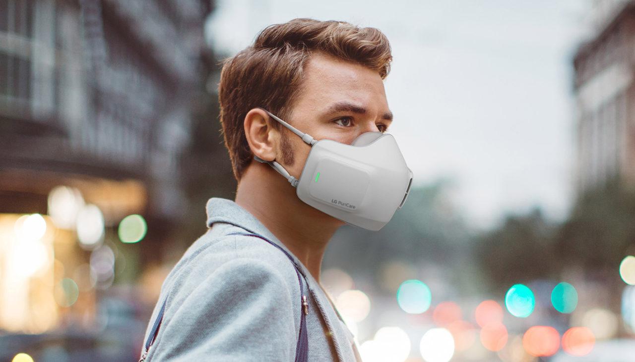 LG revela novedoso cubrebocas electrónico que purifica el aire