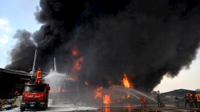 Incendio beirut libano