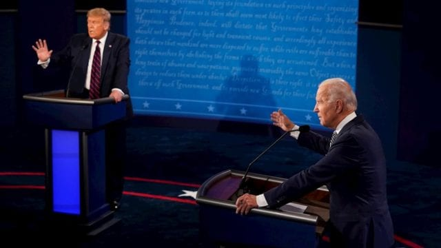 Debate virtual Trump Biden