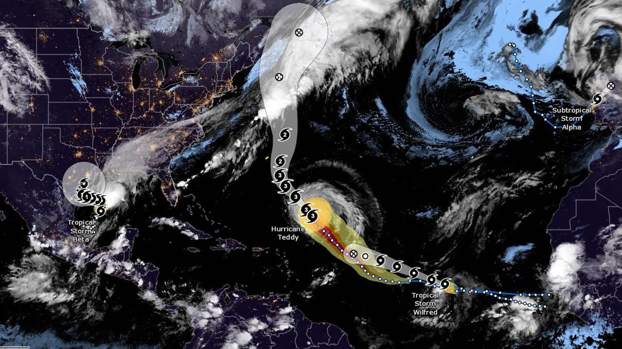 Día histórico para los huracanes: se forman 3 tormentas y se agotan los nombres del año