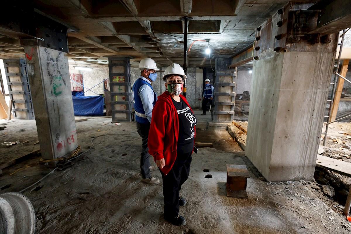 Damnificados del sismo de 2017, entre la reconstrucción y la pandemia