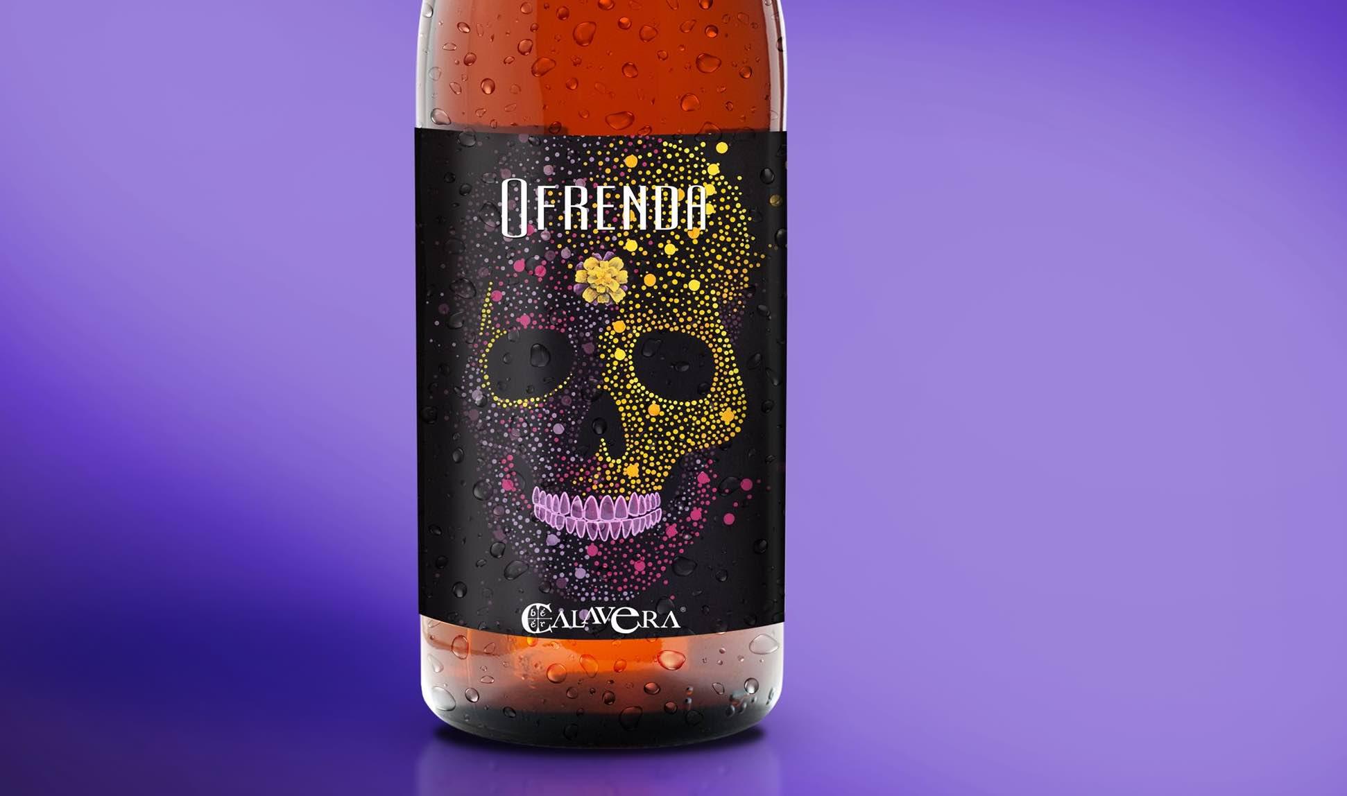 Ofrenda: La cerveza del Día de Muertos con calaveritas de azúcar y calabaza