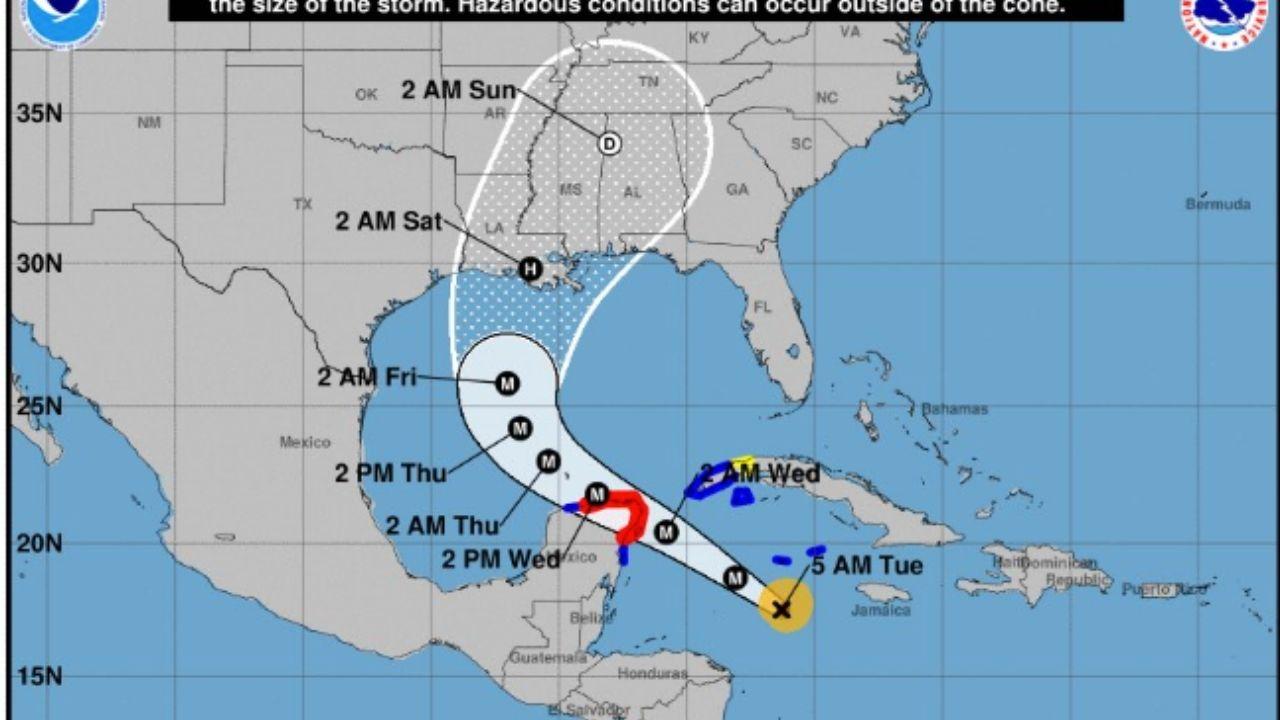 Huracán Delta se fortalece y amenaza la península de Yucatán; Cancún, en alerta naranja