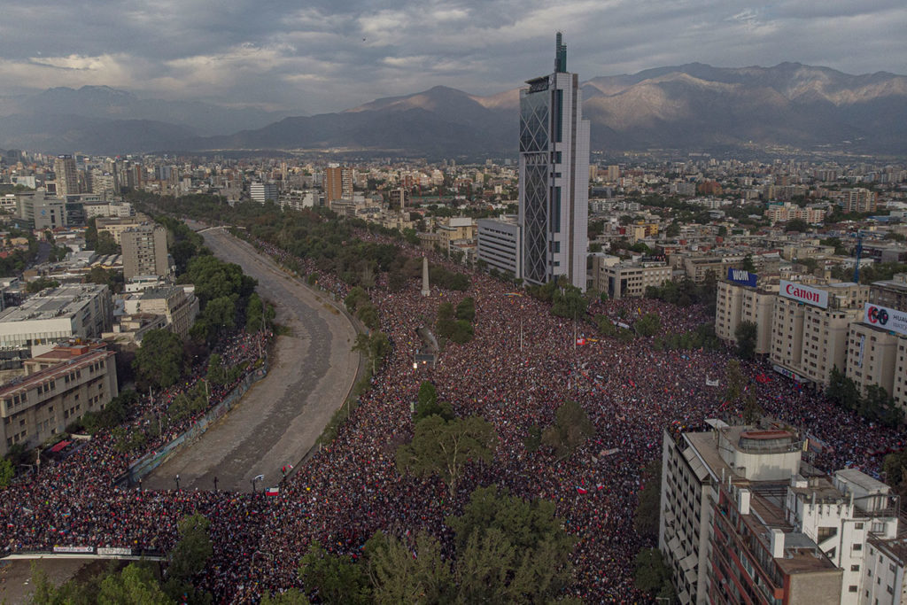 CHILE National Strike And Protests Against President Pinera