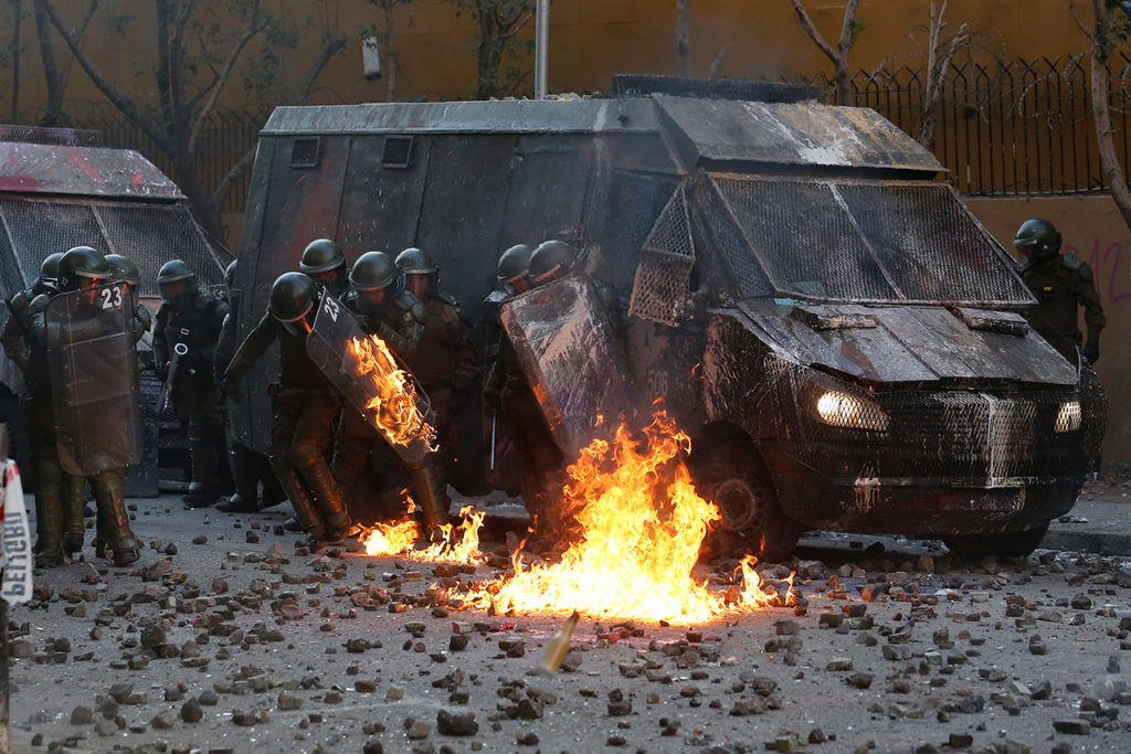 Demonstrations Resurface In Chile