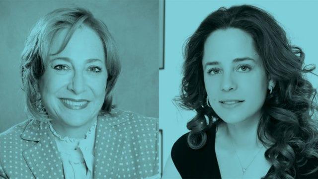 Paula Santilli y Monica Bauer