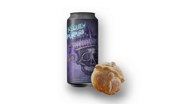 Réquiem púrpura: La cerveza hecha con pan de muerto