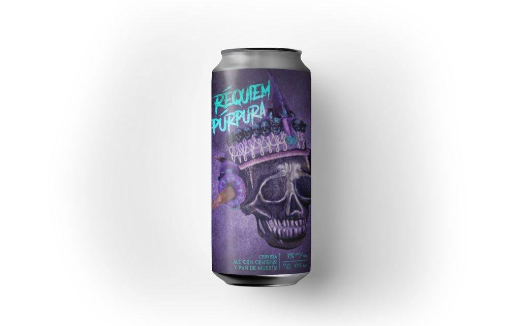 cerveza pan de muerto requiem púrpura