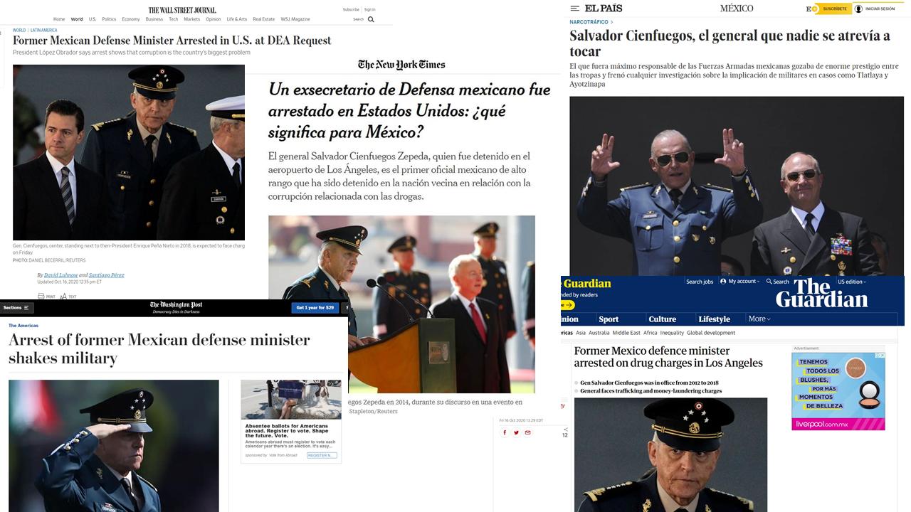 La caída de Cienfuegos, vista por la prensa internacional