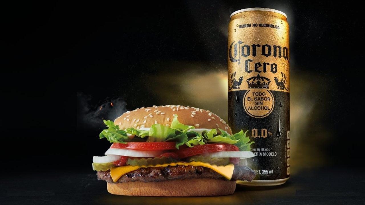 Burger King adopta la cerveza Corona Cero para su menú