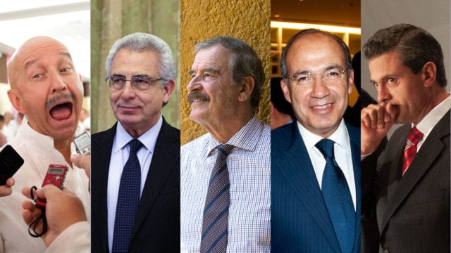 ex presidentes Salina Zedillo Fox Calderon Peña