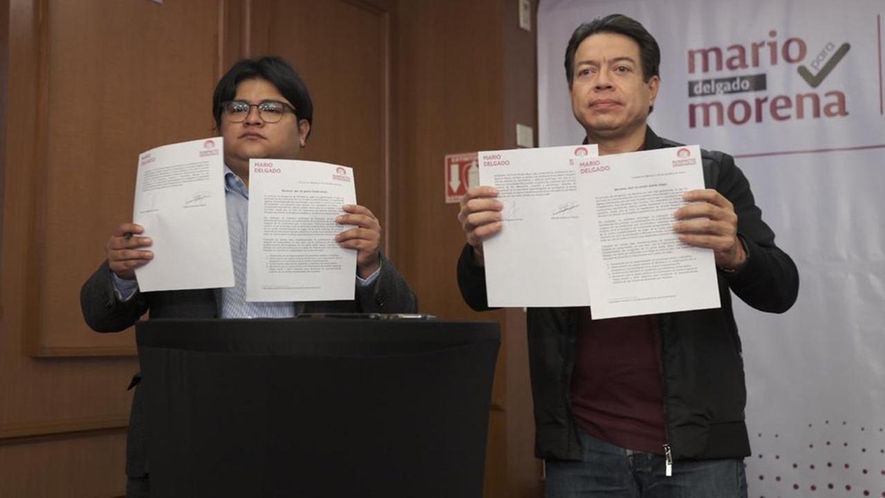 Arranca encuesta definitiva para líder de Morena; Gibrán respalda a Delgado