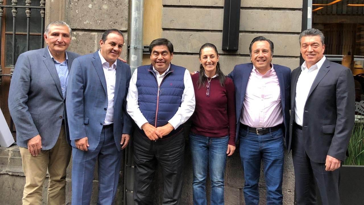 Gobernadores de Morena se adhieren al Acuerdo por la Democracia de AMLO