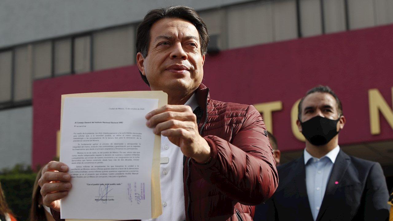 Mario Delgado gana dirigencia de Morena con 58.6% en encuesta del INE