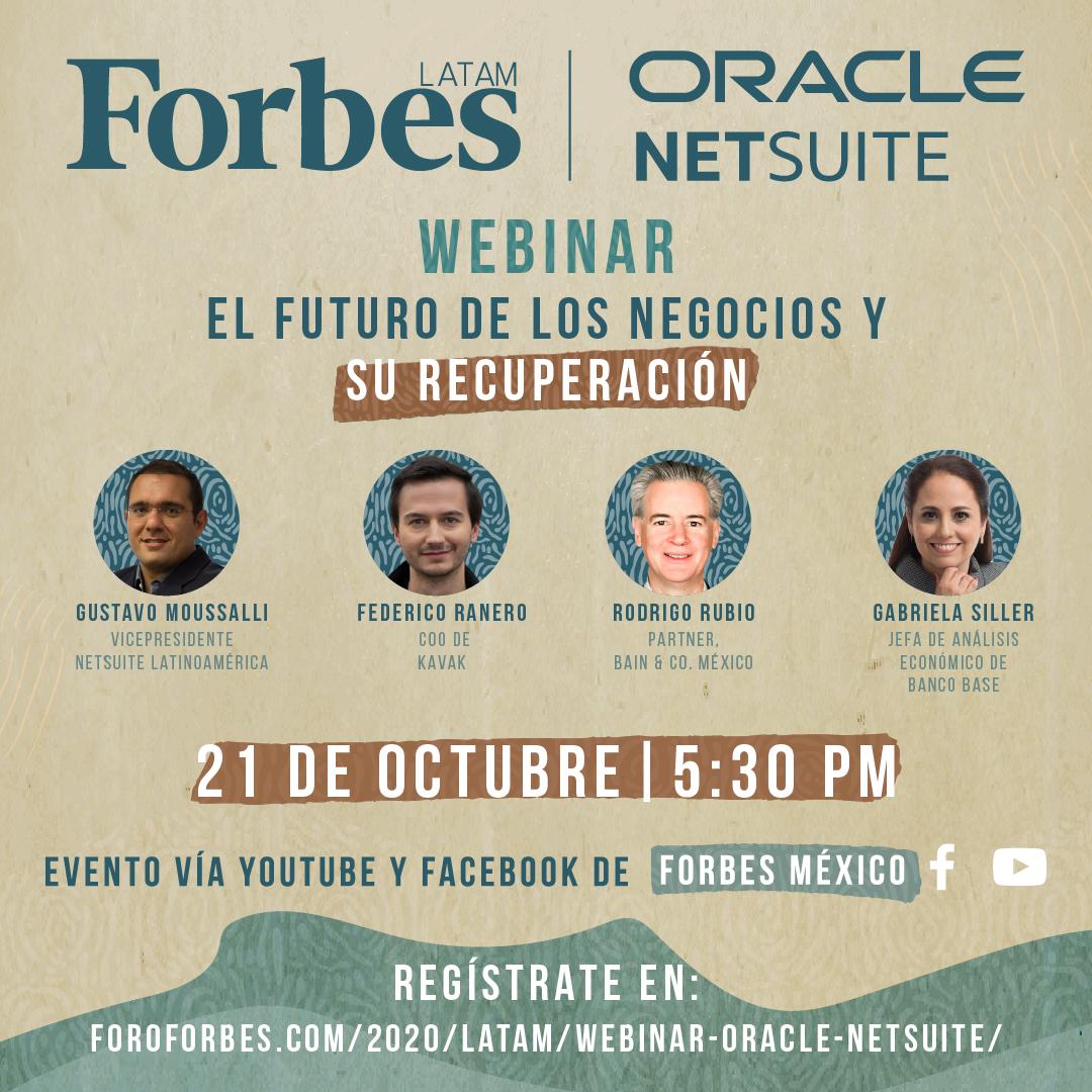 Webinar Oracle NetSuite / El futuro de los negocios y su recuperación