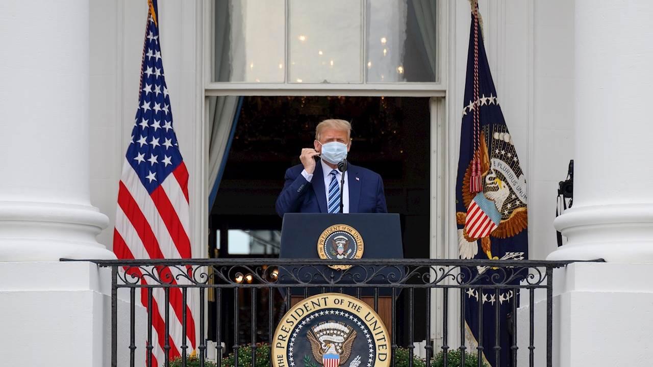 'Vencí este loco y horrible virus de China', dice Trump; afirma ser inmune