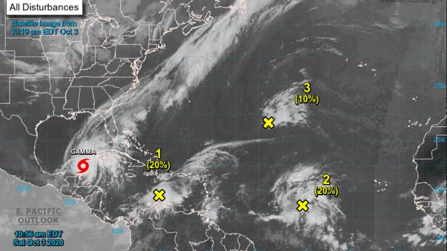 tormenta Gamma Yucatán