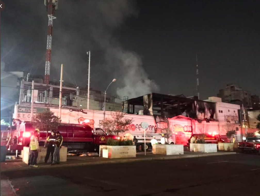 Se registra incendio en una subestación eléctrica de la CFE al sur de la CDMX