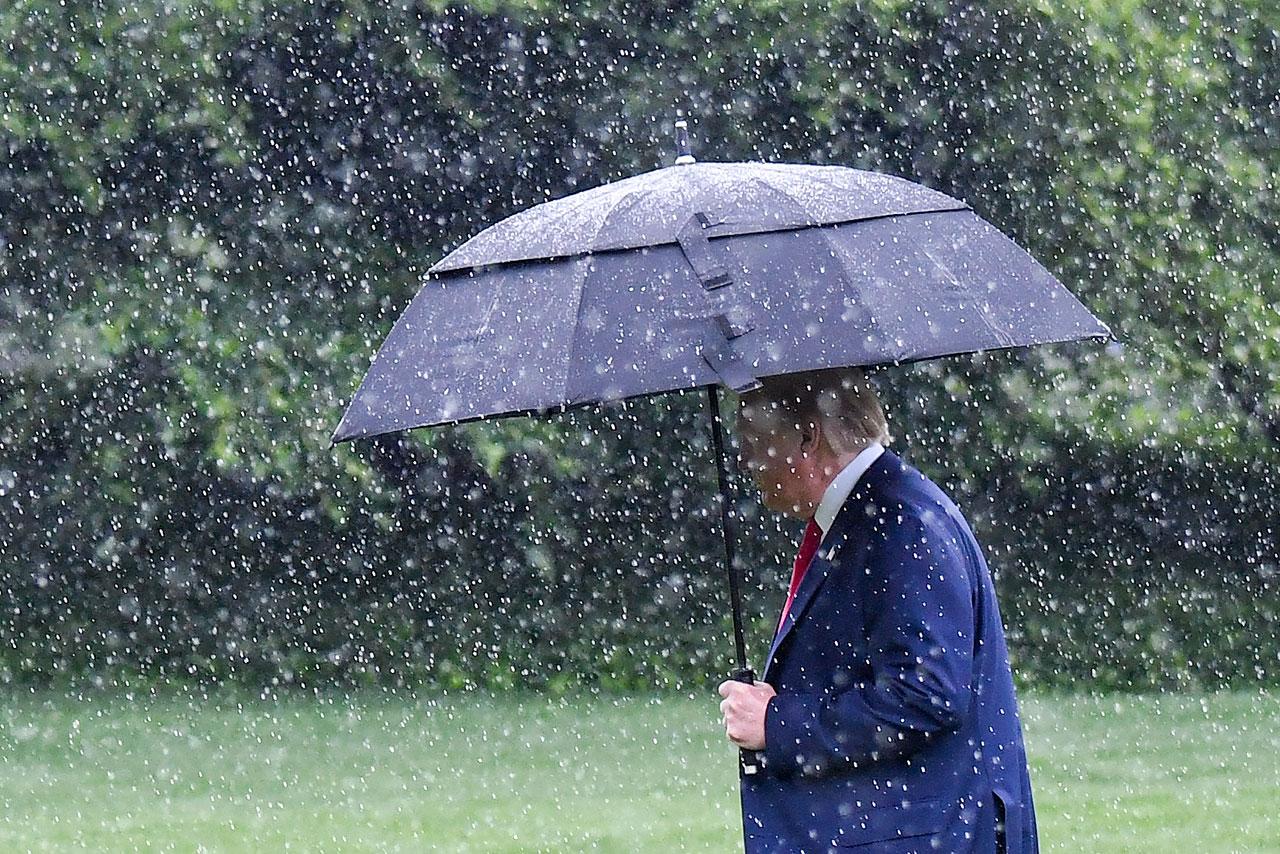 President Donald Trump departs the White House for Dallas.