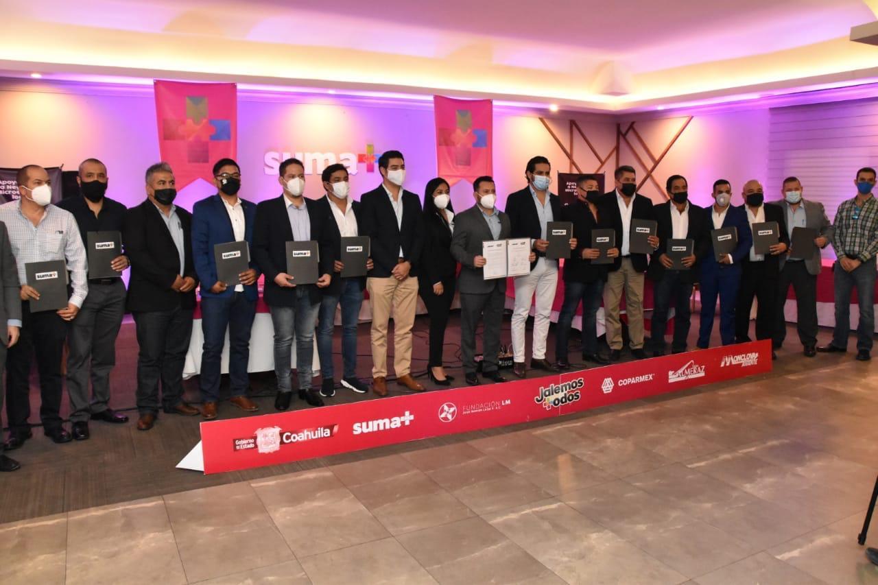 Más empresarios se unen a SUMA+ para recuperar mipymes en Coahuila