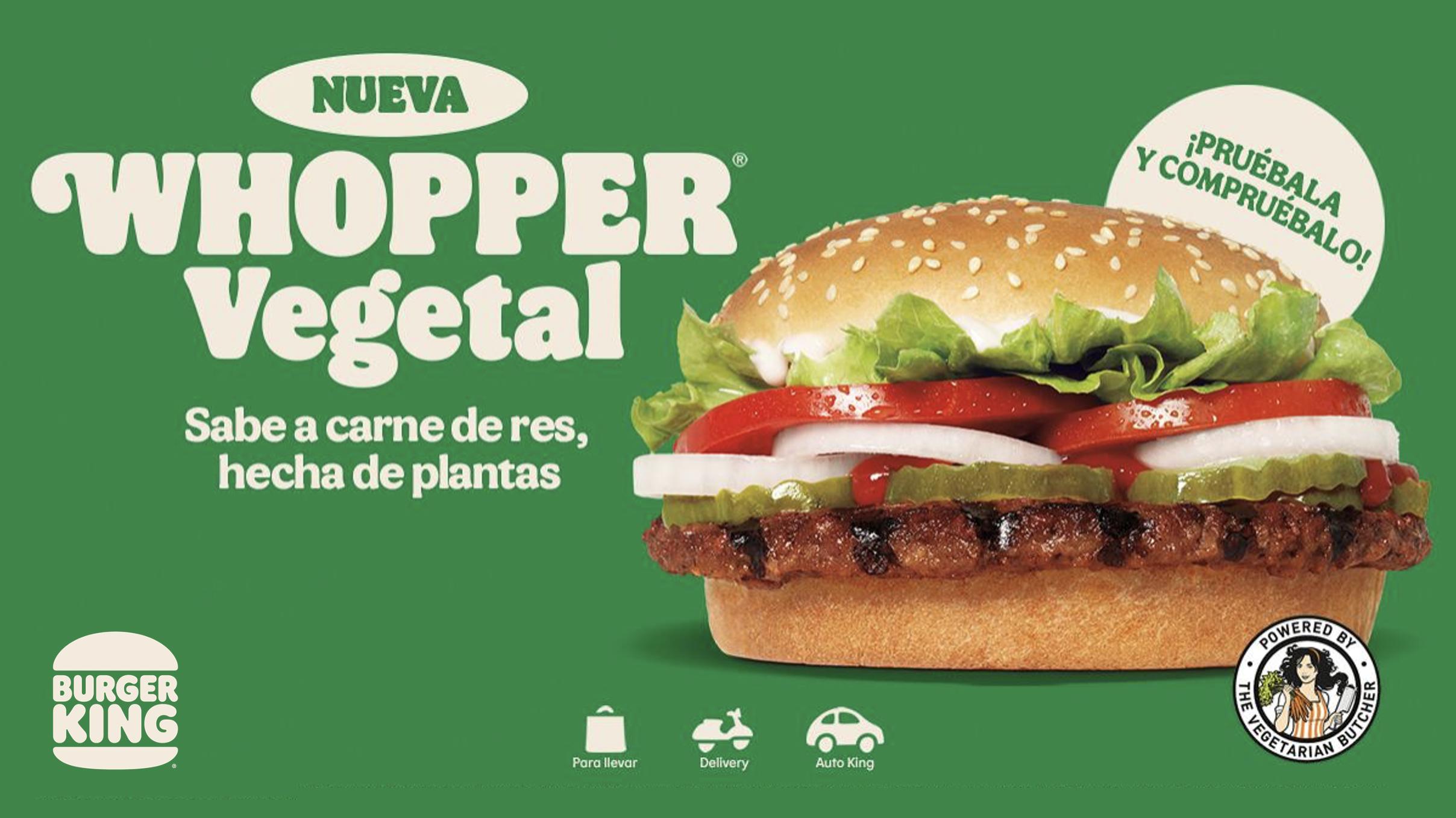 Burger King trae a México su hamburguesa hecha con plantas