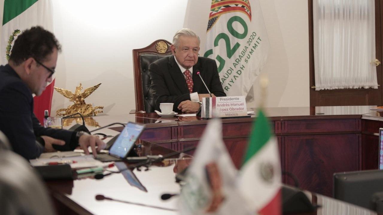 AMLO aboga ante G20 por ayudar a pobres y no sólo a empresas en quiebra