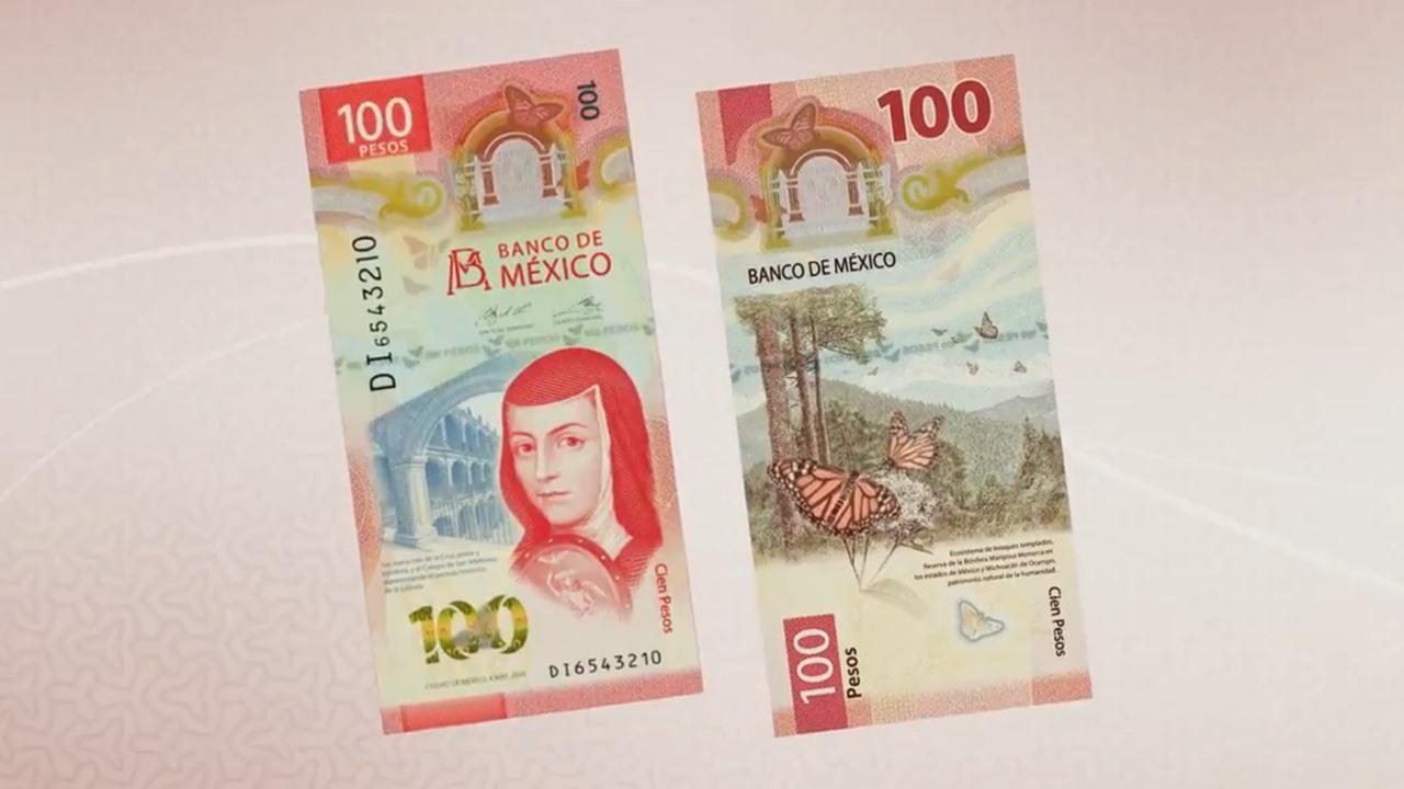 Así es el nuevo billete de 100 pesos con Sor Juana Inés de la Cruz