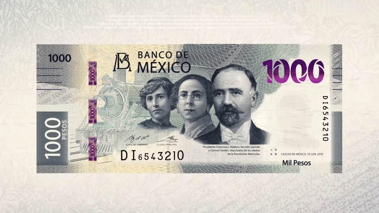 Revelan nuevo billete de 1,000 pesos; incluye a 2 mujeres revolucionarias