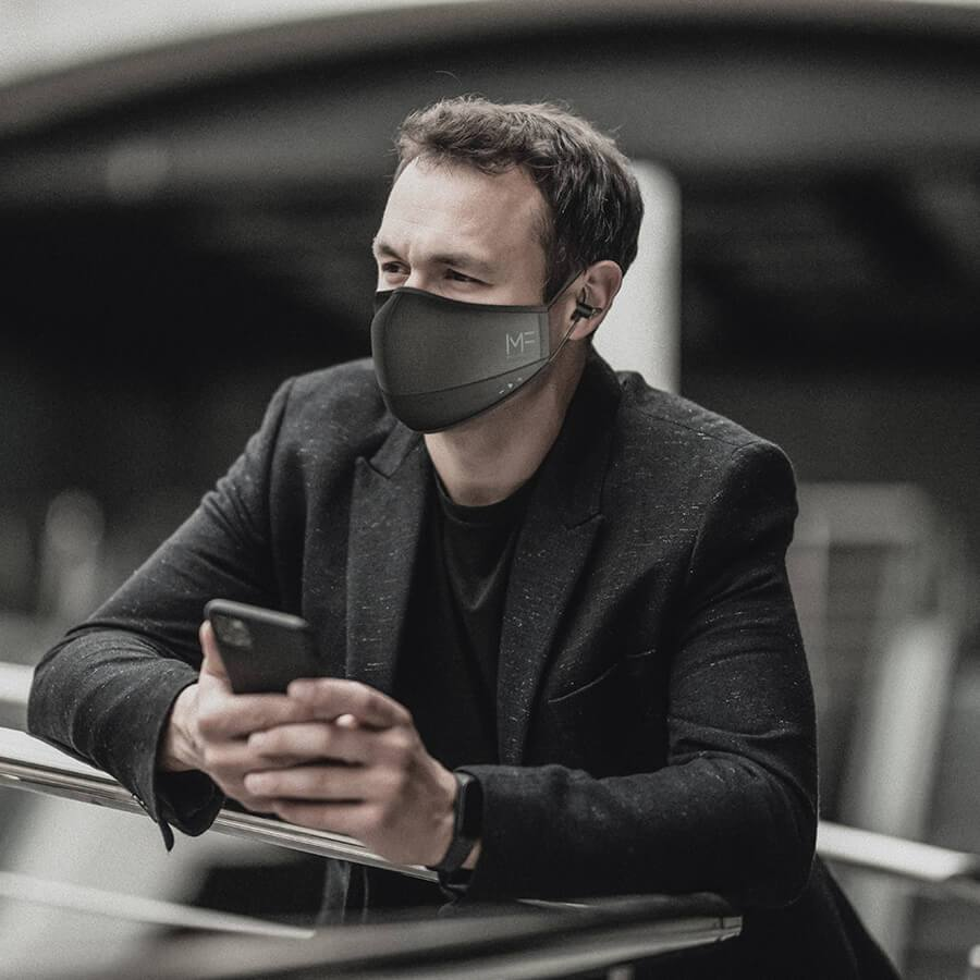 cubrebocas wearable MaskFone