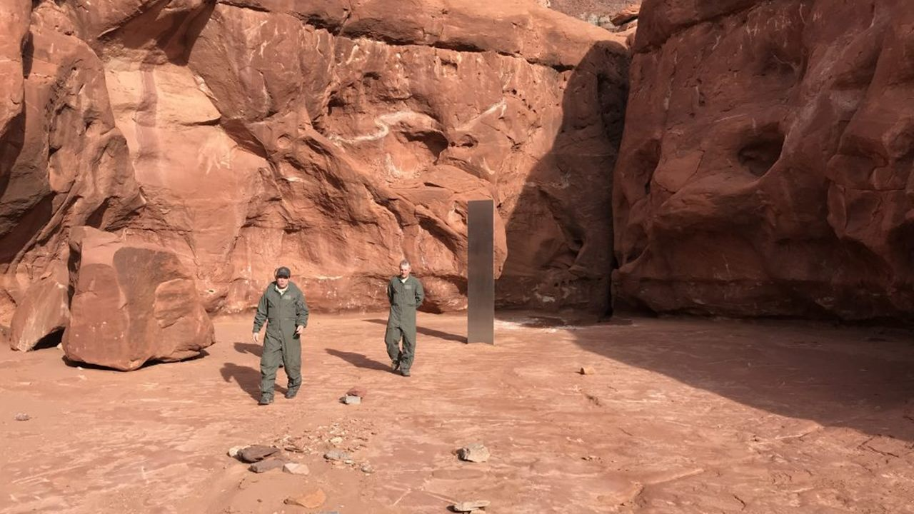 Encuentran extraño monolito de metal en el desierto de Utah