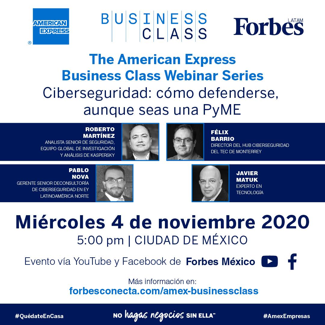 AMEX Business Class / Ciberseguridad: ¿Cómo defenderse (aunque seas una pyme)