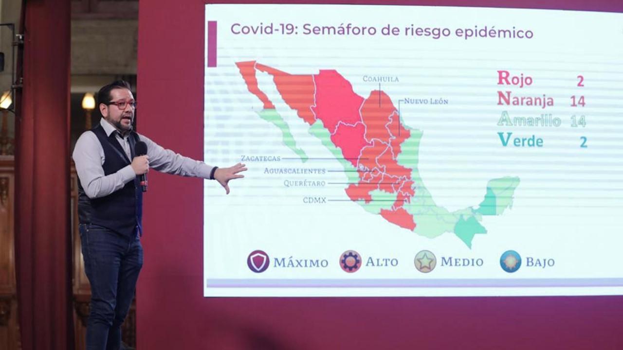 Semáforo Covid-19: Chiapas, llega a verde; 6 entidades se acercan al rojo