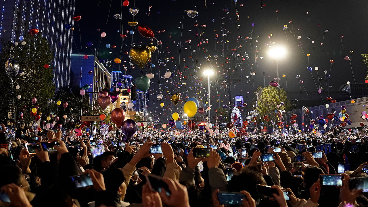 Wuhan Holds New Year Countdown Celebration
