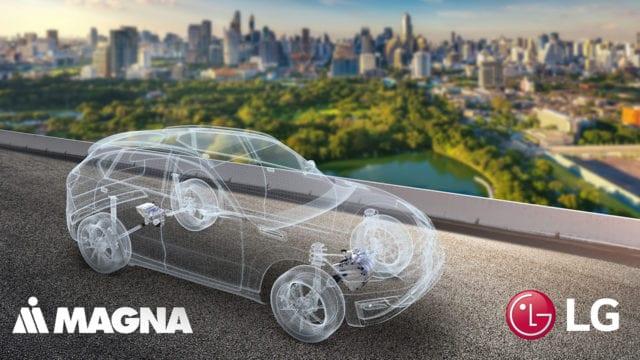 Magna. LG, autos eléctricos