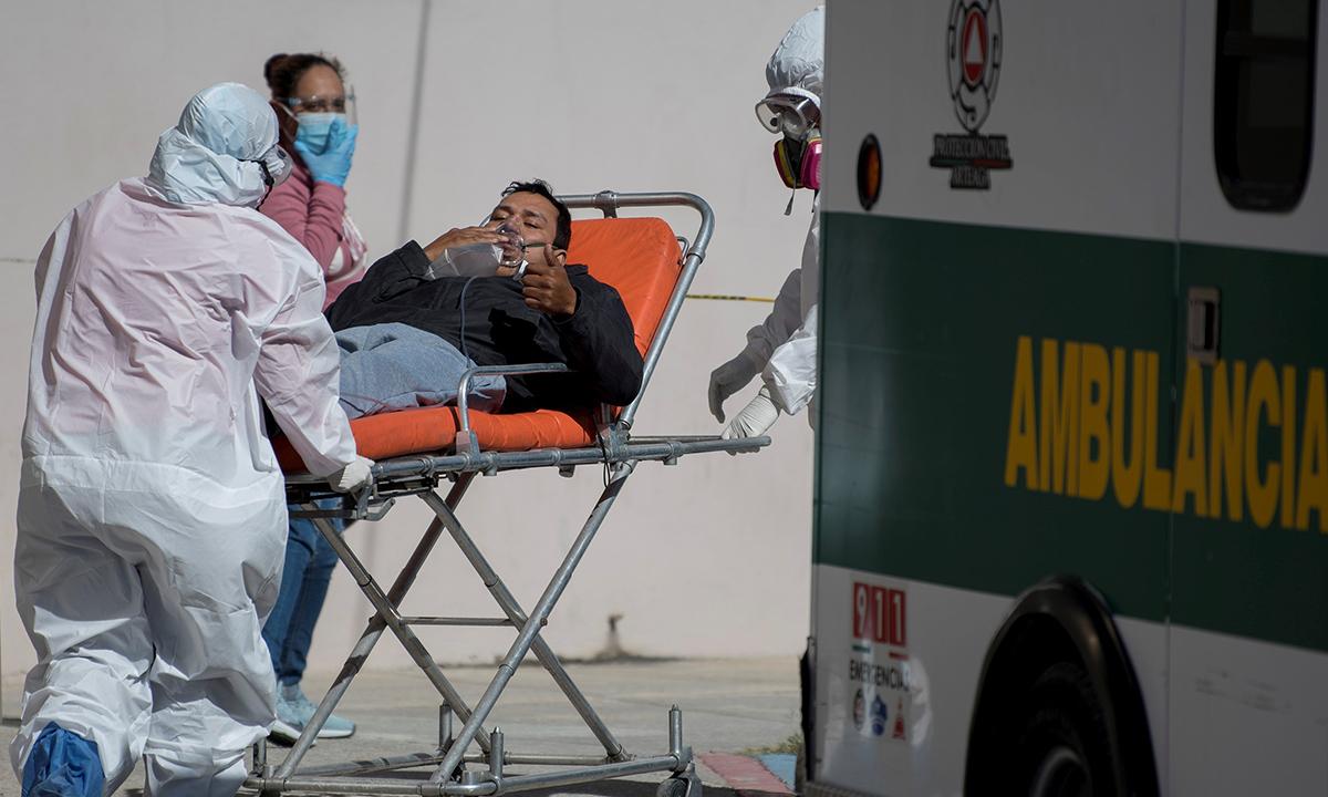 Muertes por coronavirus en México suman 122,855