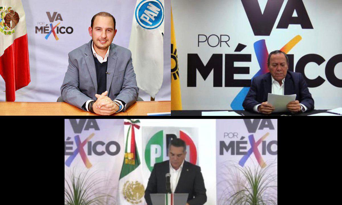 Coalición Va por México es registrada ante el INE