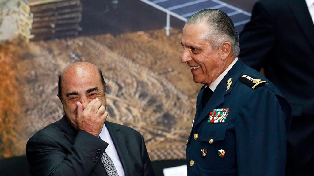 Murillo Karam and Mexico's Defense Minister General Cienfuegos