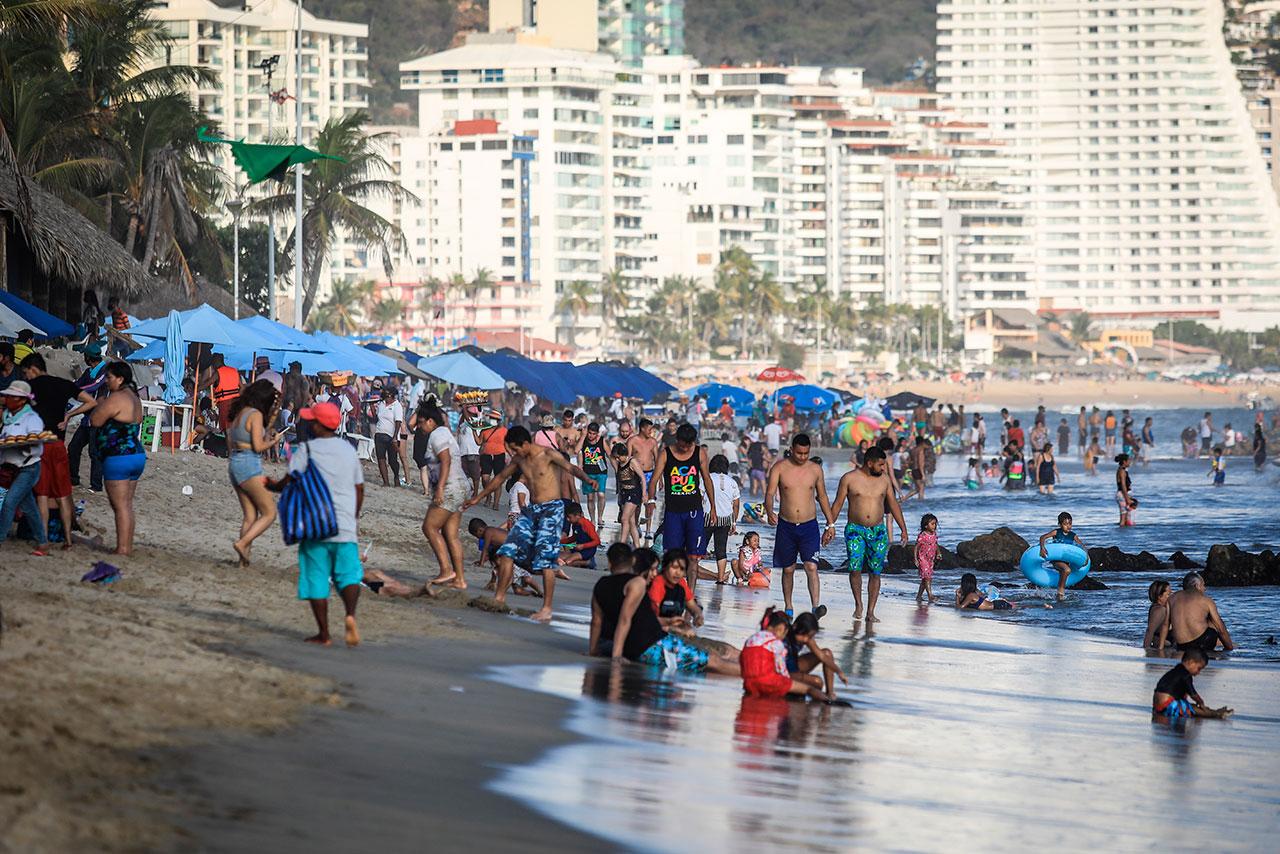 Fotogalería: Playas mexicanas llenas pese a aumento de casos Covid-19