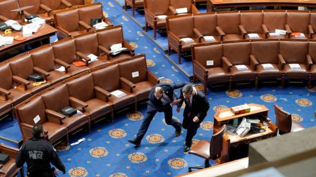 Asalto al Congreso Estados Unidos legisladores