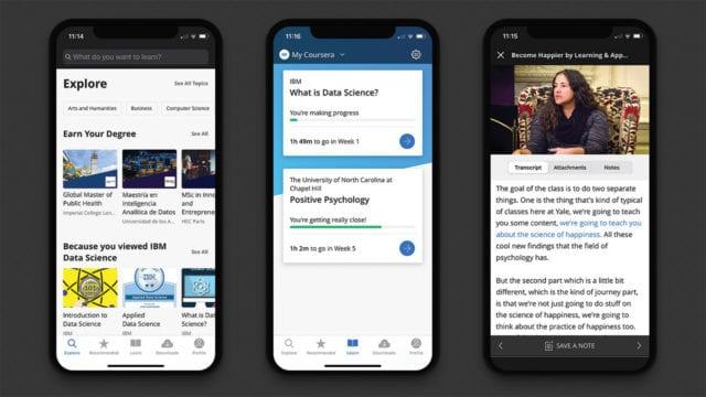 Coursera mobile